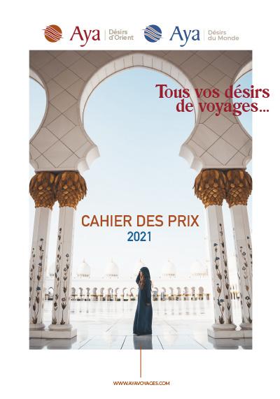 CAHIER DES PRIX - 2021 - Tous vos désirs de voyages...