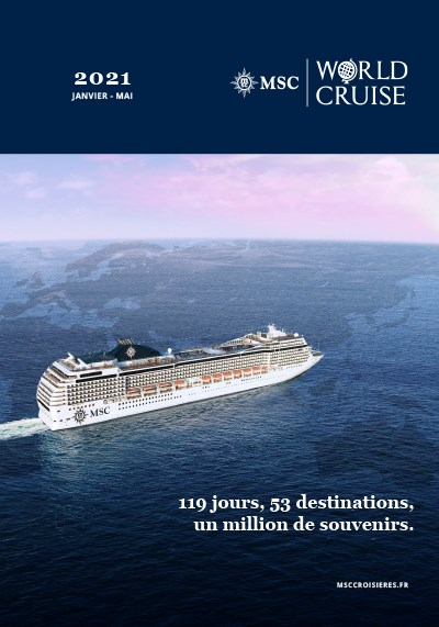 WORLD CRUISE - 2021 - 119 jours, 53 destinations, un million de souvenirs