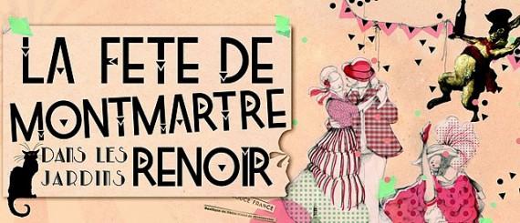 La fête de Montmartre dans les jardins Renoir