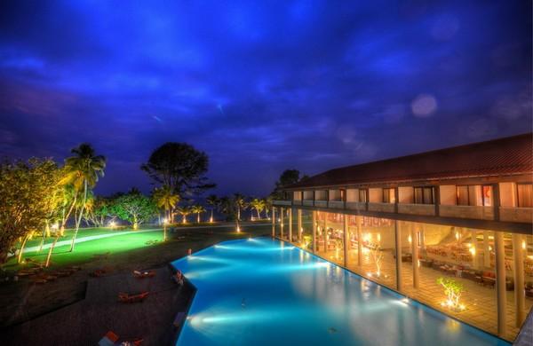 01. View form hotel at night - Cinnamon Bey Beruwala