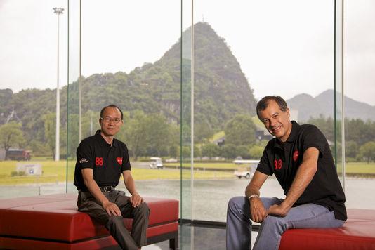 guo-guangchang-president-de-fosun-et-henri_giscard d estaing-club med
