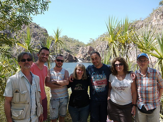 Asia-defi Australie-Arrêt baignade à la cascade Edith falls