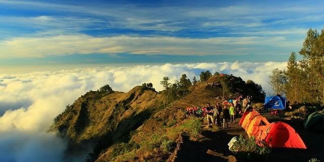Mont Rinjani sur l'Ile de Lombok