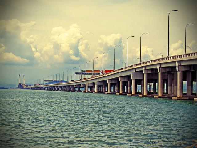 Penang Bridge-pont de Penang-Malaisie