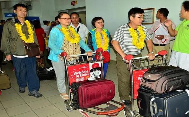 touristes chinois à maurice