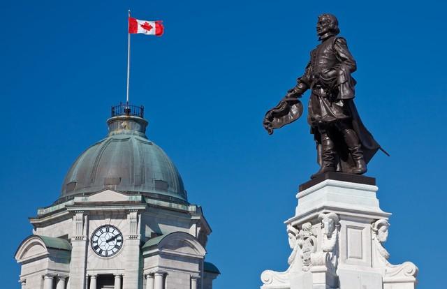 Quebec-statue de Samuel Champlain