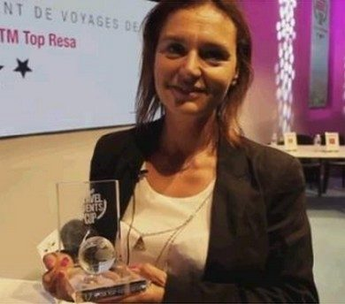 delphine decle-jancarthier-IFTM TOP Resa-travel agent cup