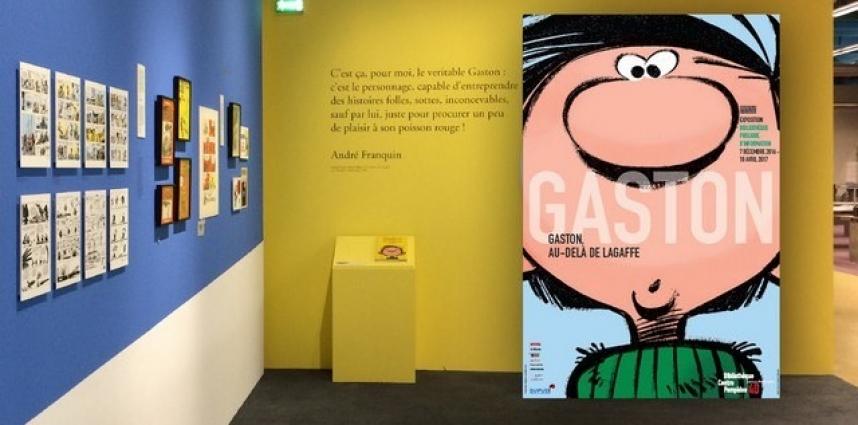 Lagaffe fait le malin chez Pompidou