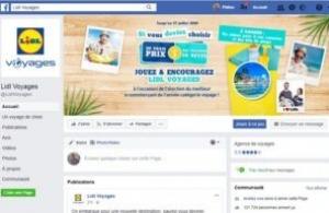 Lidl Voyages s'appuie sur Facebook