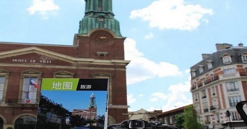 Bois-Colombes édite un plan de la ville en mandarin pour les touristes chinois